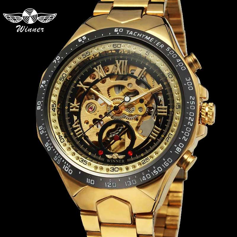 Mens Watch   Military Sport Automatic Mechanical Wristwatch Skeleton Male Clock 0014