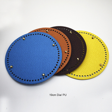 7.48inch Circle Bottom for Knitting Bag Bottoms with Holes Braided Leather Handbag Shoulder Handmade DIY Accessories