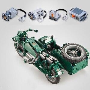 Image 5 - 軍事 RC オートバイのビルディングブロックフィット Legoing テクニック WW2 オートサイクル軍車両レンガのおもちゃ子供の男の子のため子供