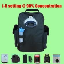 Coxtod 1-5 настройки для 90% концентрация кислорода с Batttery, инвертор автомобиля, сумка для переноски, тележки и пульт дистанционного управления