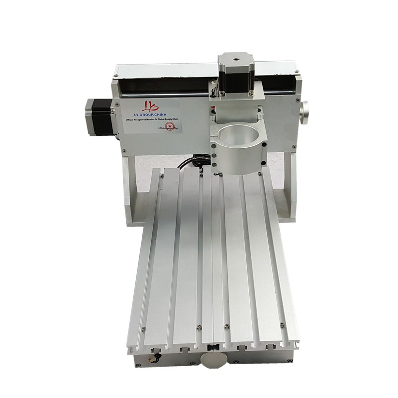 65mm spindle clamp mini cnc router frame 3020 with free table clamps add 57 step motor for DIY
