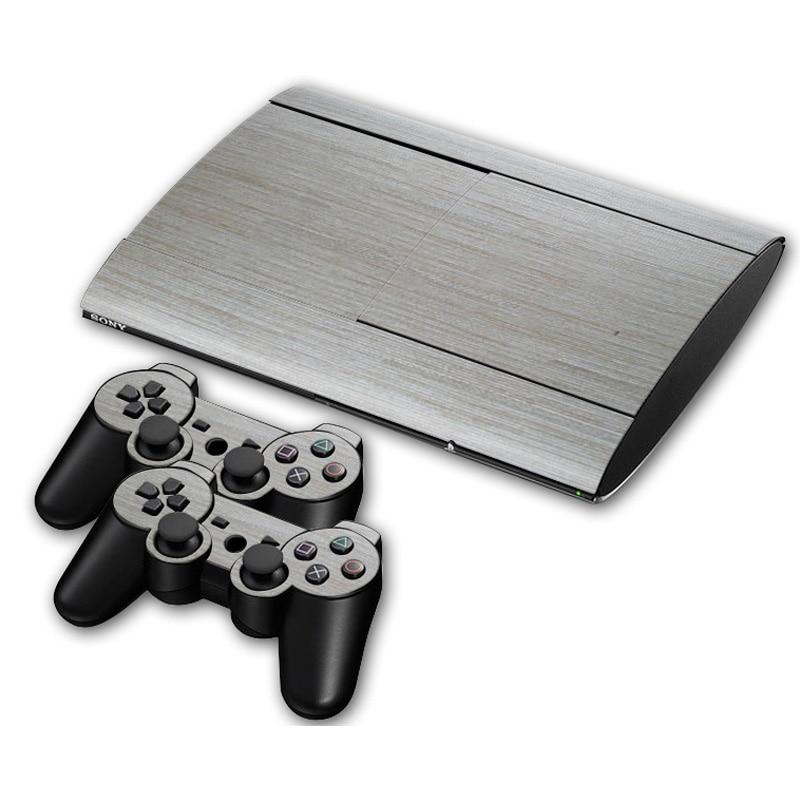 Super Slim Playstation 3 : Oststicker silver vinyl skin sticker for sony ps super