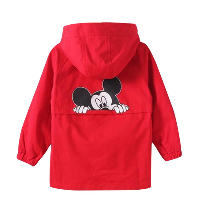 New Product 2017 Fashion Jackets Cartoon Coats Children's Autumn Outwear Kids Windbreaker Boys Girls Trench