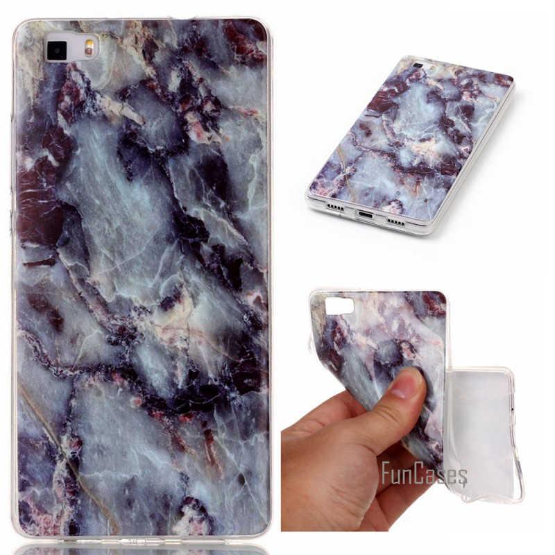 Smooth Marble Image Phone Case For Huawei P8Lite P9Lite P9 Lite P8 Soft Cover Shell Capinha Coque Etui Fundas Capa Stone Rock