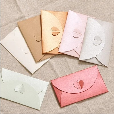 vintage 250g gilt decorated love buckle paper blank envelopes multicolor business specialty 6 color 60pcs - Decorative Envelopes