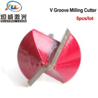 90 V Groove Milling Cutter CNC Router Engraving Carving Knife Tungsten Steel Woodwork Chamfer Bit 90 Degree Cutting Tools (2)