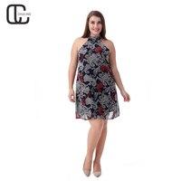 2017 Women Summer Bohemian Short Dress Off Shoulder Print Chiffon Casual O Neck Dresses Large Size