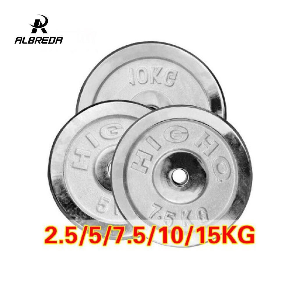 ALBREDA 2.5 KG-15 KG haltères disques poids pour Fitness équipement d'haltérophilie haltères Gym musculation