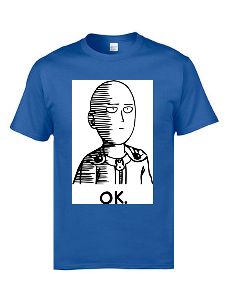 Tees Ok Hero Tops & Tees Father Day On Sale Group Short Sleeve Cotton Fabric Crew Neck Men T Shirts Group Free Shipping Ok Hero blue