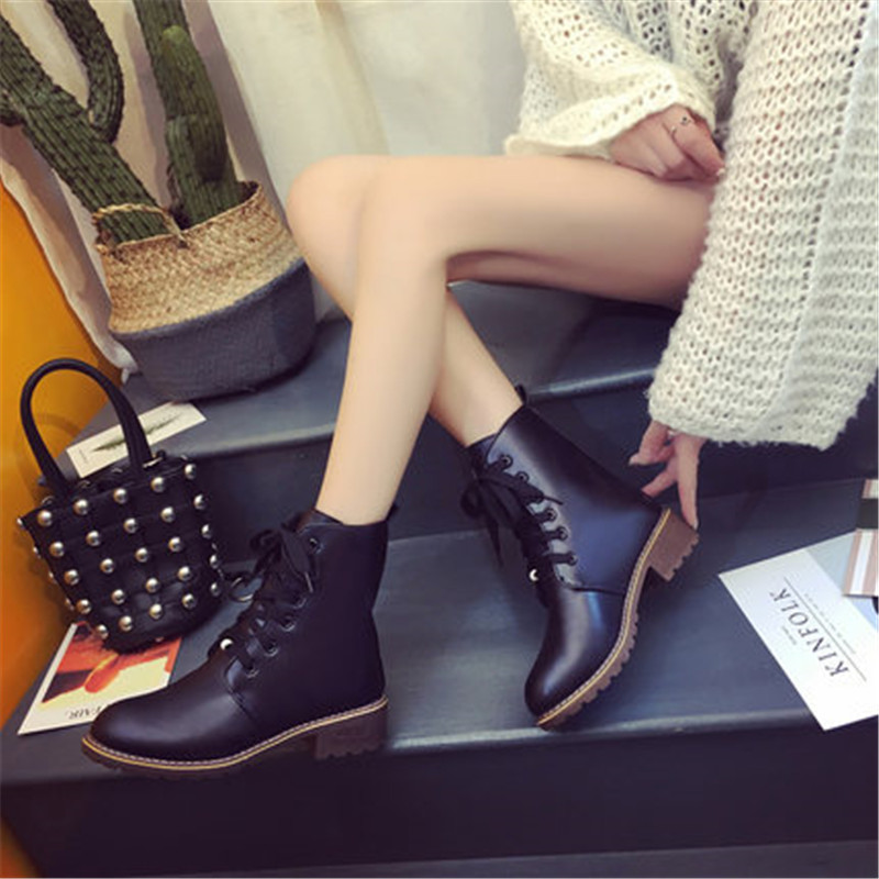 2019 Hot New Autumn Early Winter Shoes Women Flat Heel Boots Fashion Keep warm Women's Boots Brand Woman Ankle Botas Camouflage 4