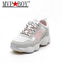 MVP BOY Women Shoes 2018 Spring Woman Fashion Light Breathable Mesh Shoe Casual Sneakers Size 35-40