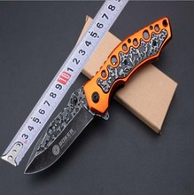 F96 5CR15MOV blade  Steel + aluminum tie hua Handle Folding knife Survival tool Pocket Knife tactical outdoor C85 C81