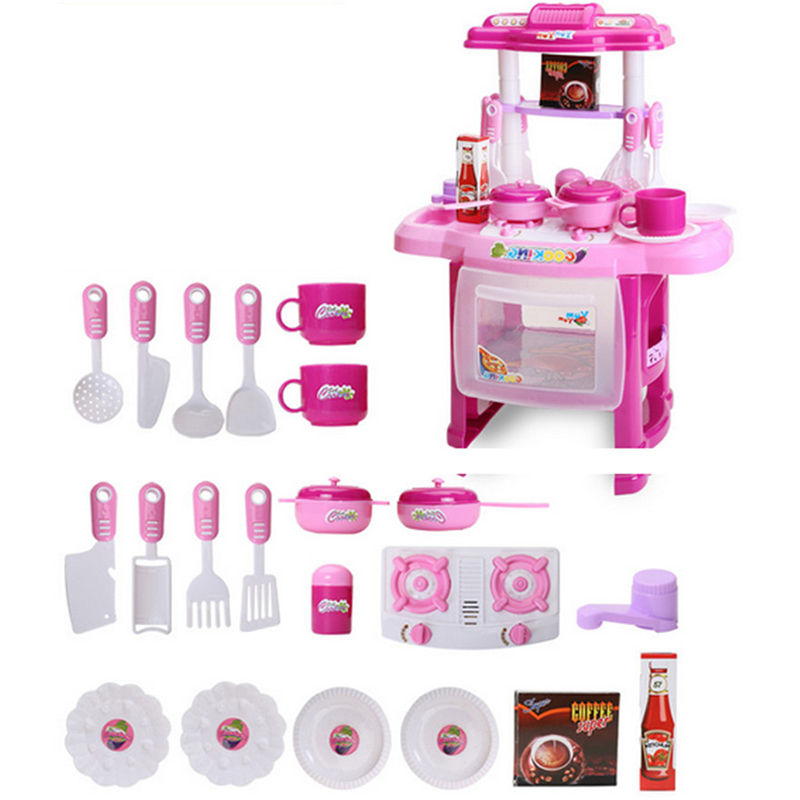 Miniature Children S Toys Kitchen Utensils For Kids Furniture Play Set Educational Doll House Cabinets Gift In From