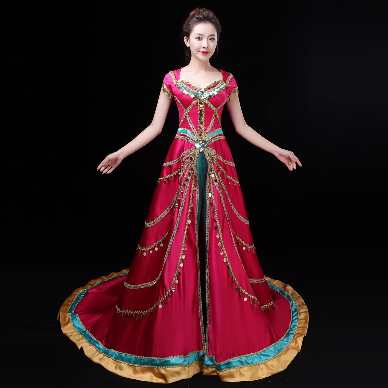 2019 Movie Aladdin Princess Jasmine Cosplay Costume Fancy Dress