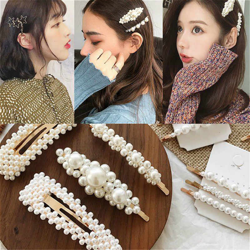 Lovely Pearl Crystal Wedding Hair Jewelry Charm Bridal Hair Combs Women Party Hairpins Wedding Hair Accessories