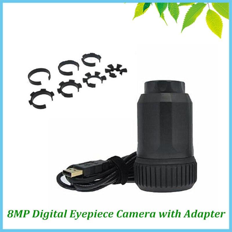 Microscope télescope Portable Auto Focus 8.0 MP CMOS oculaire électronique USB numérique oculaire industriel caméra avec adaptateur