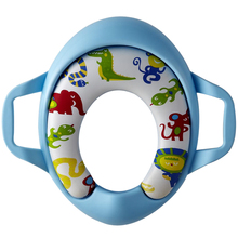 Cartoon Colorful toilet seat kids soft  toilet seat cover  Cushion Child Seat Baby Potty Seat  Safety  with Handrail round bathroom adult toilet seat with built in child potty training seat elongated white toilet seat cover bathroom accessories