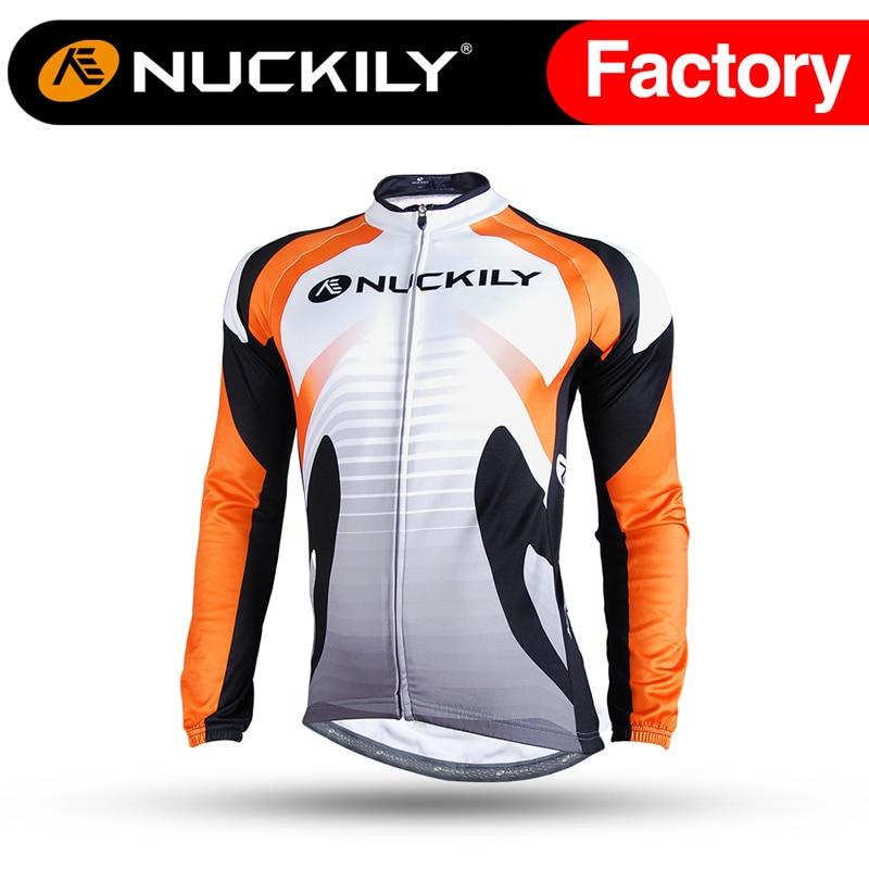 ФОТО Nuckily Reflective Mountain Bike Wear Clothes Custom Long Sleeve Bicycle Cycle Jerseys   NJ528-W