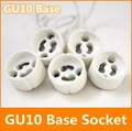 Wholesale GU10 led bulb bases socket GU10 Pottery and Porcelain lamp holder GU10 LED Lamp Bases for Free shipping