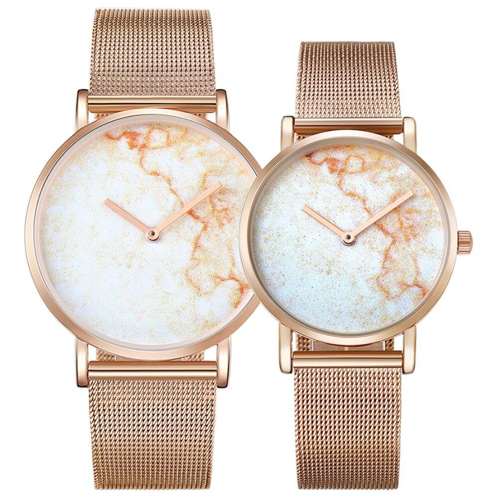 CAGARNY Fashion Gold Watch Steel Bracelet Strap Quartz Watches For Lovers Women Ultra Thin Style Men Luxury Wristwatch Hot Sale