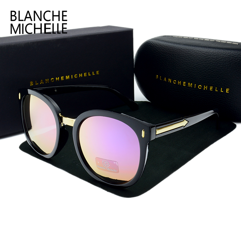 2018 de Alta Qualidade Espelho Redondo Óculos De Sol Mulheres Polarizada  UV400 Polaroid de óculos de sol Óculos de Sol Marca Designer Oculos Feminino  em ... 2b1e0e9bb4