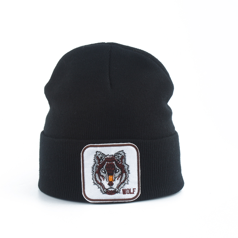 New Wolf Animal   Beanie   Men Warm Knitted Winter Hats For Women Gorra Hip hop   Skullies   Bonnet Unisex Cap Dropshipping