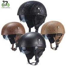 WOSAWE, casco de bicicleta de carretera, casco de personaje famoso Retro, medio casco MTB, casco de Ciclismo de cuero PU de verano para motocicleta, hombres y mujeres