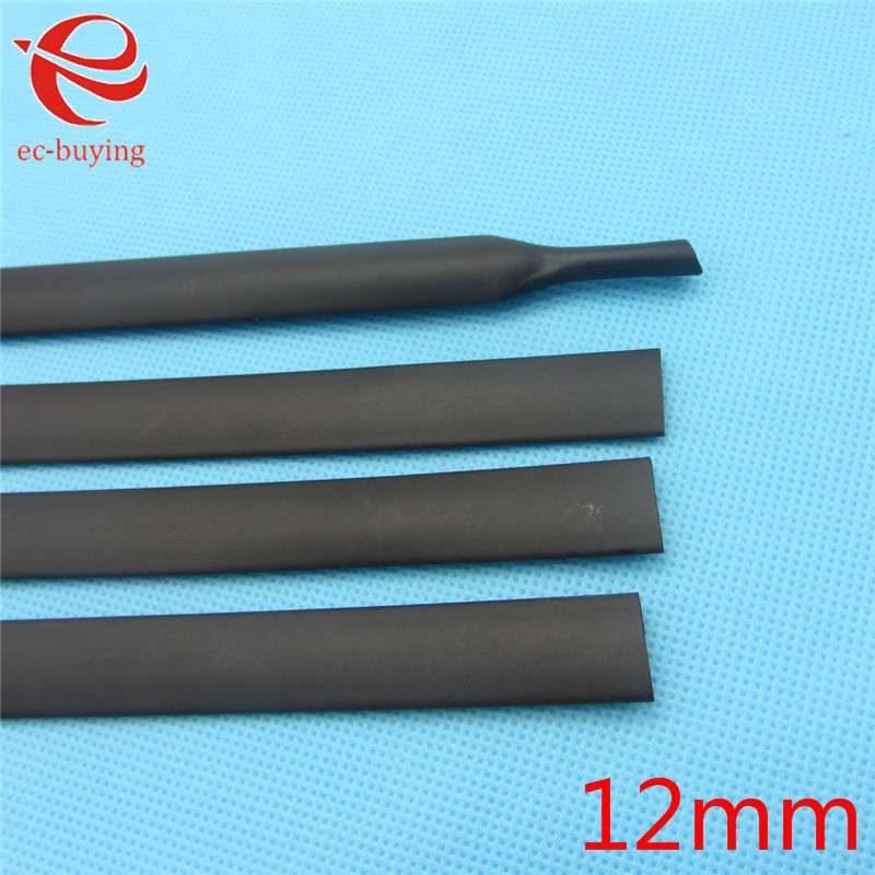 1m Heat Shrink Sleeving Heatshrink Black Tube Inner Diameter 12mm Wire Wrap Cable Kit