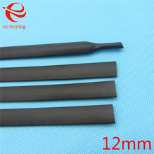 1 m de Encogimiento De Calor Tubos Termorretráctiles Tubo de Diámetro Interior 12mm Wire Wrap Cable Kit Negro