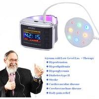 Atang médico 4 cores terapia a laser relógio para aumento do fluxo sanguíneo microcirculação melhoria de baixo nível dispositivo de terapia a laser