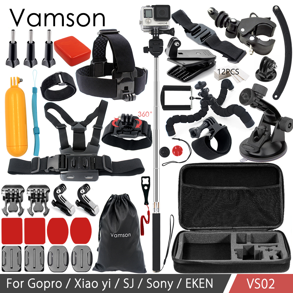 Galleria fotografica Vamson Accessories for Gopro Hero 6 5 4 3 for Xiaomi yi for yi 4k for SJCAM/SJ4000/SJ5000 Action Camera VS02
