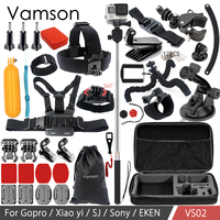 Vamson Accessories For Gopro Hero 6 5 4 3 For Xiaomi Yi For Yi 4k For