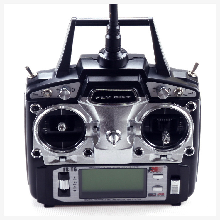 FlySky FS-T6 FS T6 2.4G Digital 6 Channels Transmitter & Receiver RC Radio Mode 2 gartt flysky fs t6 fs t6 2 4g digital 6 channels transmitter