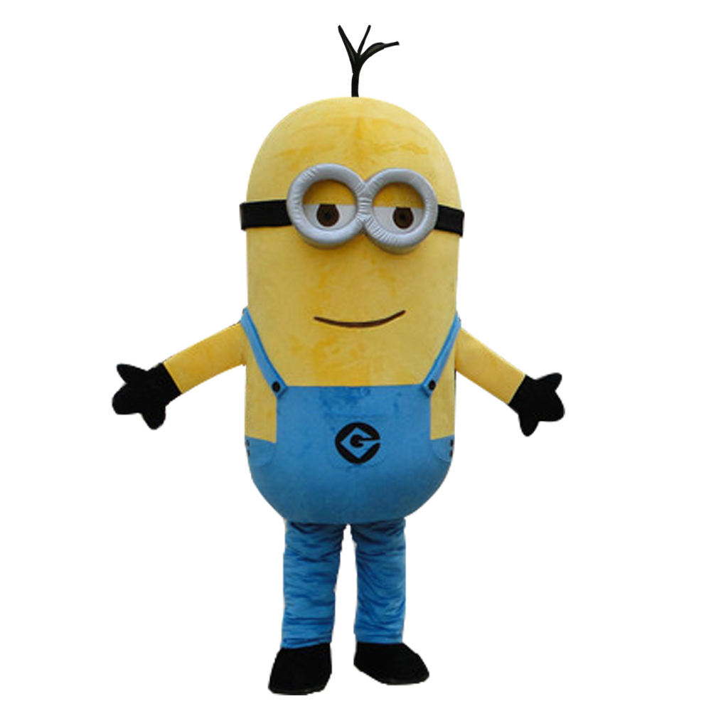 Despicable Minion With Cat Mascot Costume Cosplay Party Dress Outfit Adult Size Free Shipping