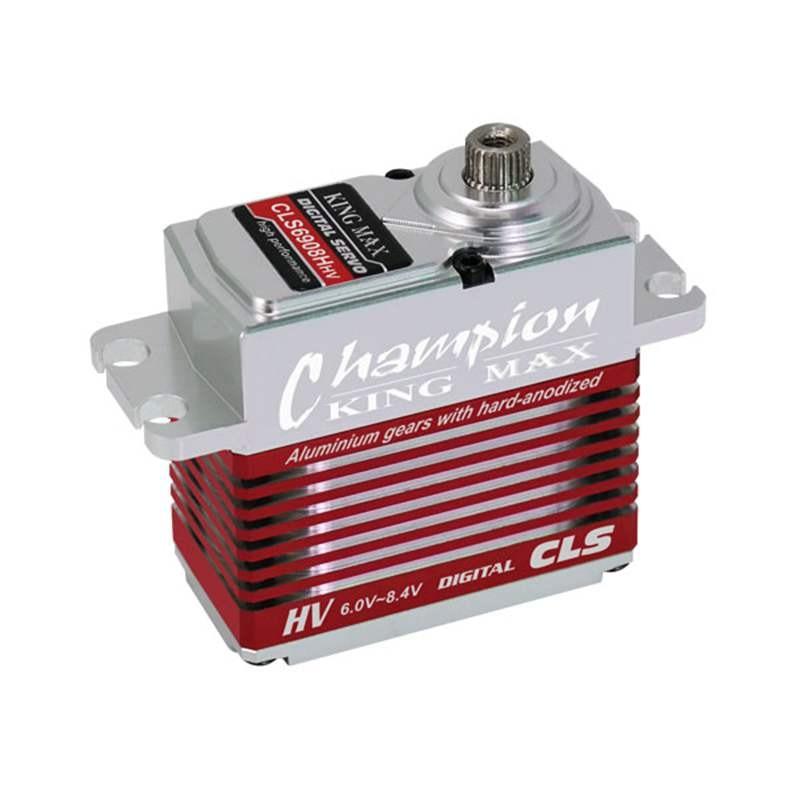 KINGMAX CLS6908HHV 69g 8kgcm digital metal gear standard servo waterproof high voltage full CNC alu case for rc 550-600 heli