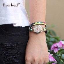 EVERLEAD Романтический женский браслет из натуральной кожи из нержавеющей стали для духов здоровье медальон со светорассеивателем браслеты для вечерние ювелирные изделия