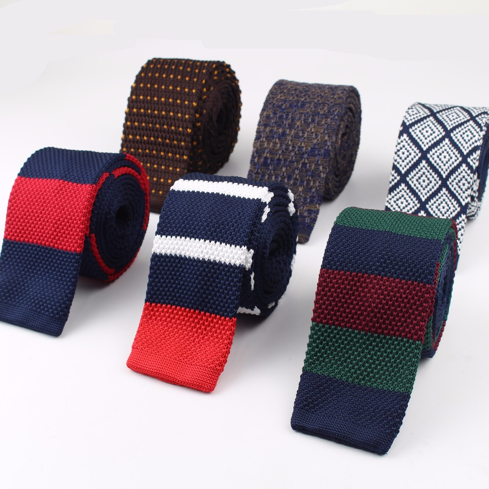 2018 Men's Colourful Tie Knit Knitted Ties Necktie Narrow Slim Skinny Woven Cravate Narrow Neckties