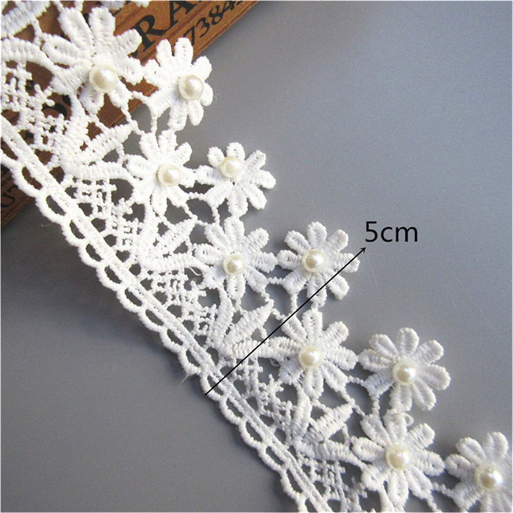 2 Meter Leaf Cotton Crochet Lace Trim Ribbon Embroidered Applique Sewing Craft