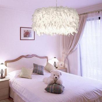 Luz Pendiente Moderna Romantica Dreamlike Pluma Dormitorio Droplight - Lmparas-dormitorio