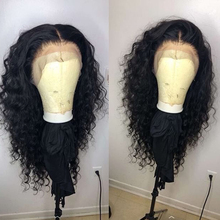 13×4 Loose Deep Wave Lace Front Wigs 150 180 250 Density Preplucked Remy Brazilian Human Hair Lace Front Wig