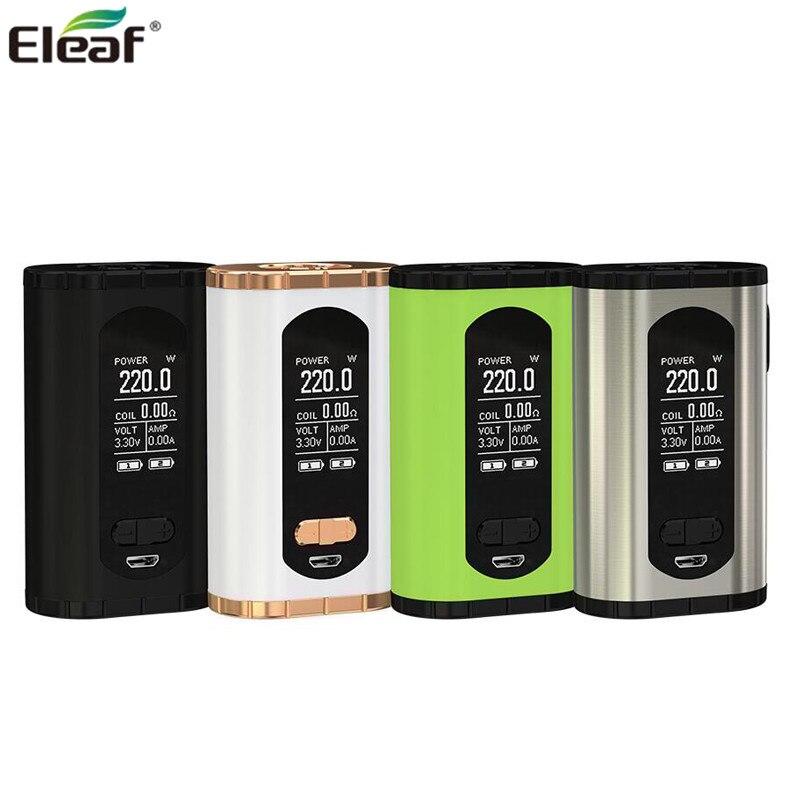 Originale Eleaf Richiamare Scatola Mod Vape 220 W Supporto ELLO T serbatoio Fit HW3/HW4 Bobina Sigarette elettroniche Vaporizzatore mod mecanico Vape Mods