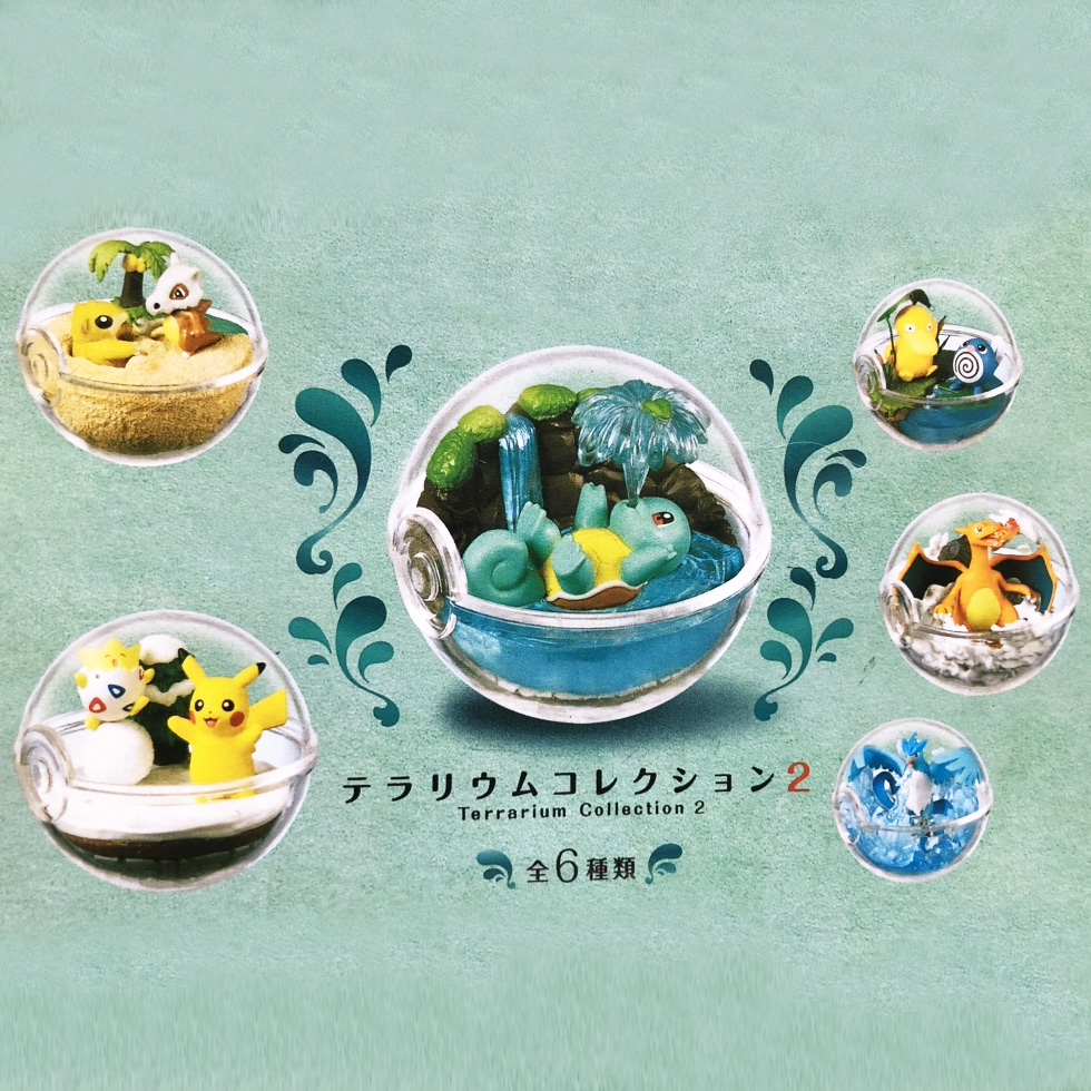 6 kinds /set Terrarium collection Action Toy Figures Model pokemones