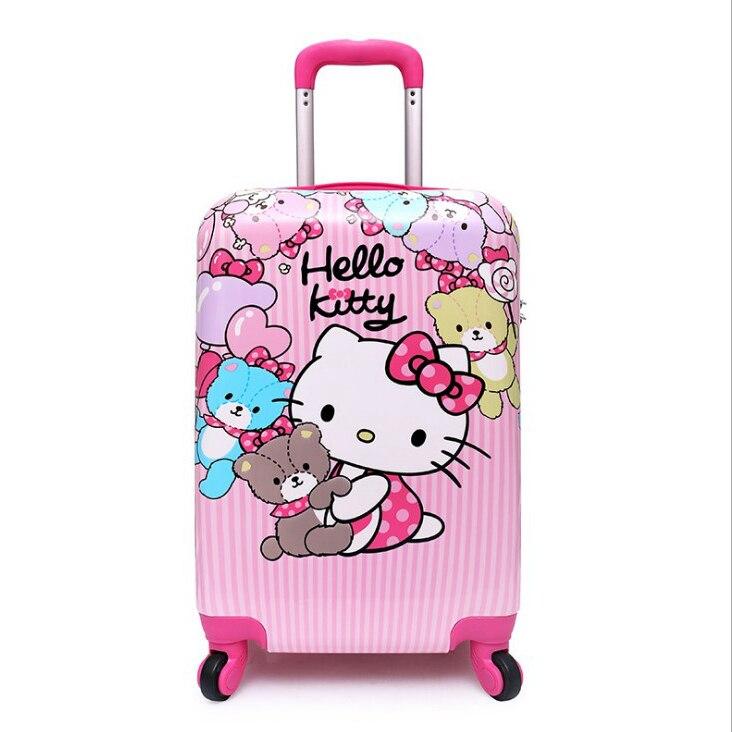 """16 """"koffer, Anime Cartoon Kinder Trolley, Grundschule Schüler Trolley Schul, Ein-weg Rad Kind Internat Gepäck Reines Und Mildes Aroma"""