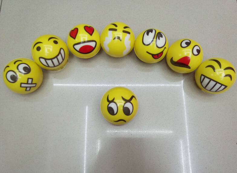 Emoji Universe pu foam sponge rubber ball decompression toy Smash it Stress Ball bouncing ...