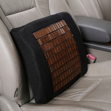 1pcs Bamboo Memory Foam Seat Chair Lumbar Back Support Cushion Pillow for Office Home Car Auto Interior Accessories недорого