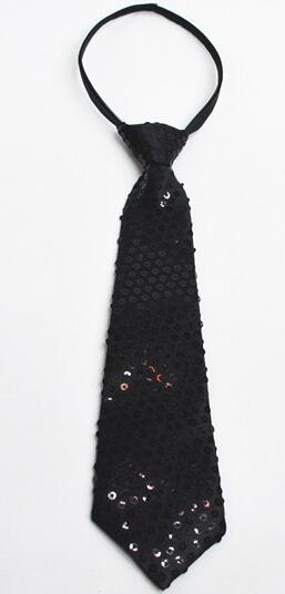 DKBLINGS 12 шт. Для женщин/мужчин/блестками на воротнике шеи галстук-бабочка в стиле «хип-хоп» шейный галстук уличный концерт accessorieas - Цвет: black