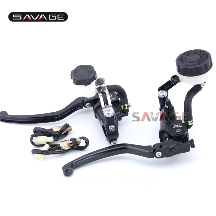 For SUZUKI GSF 1200/1250 BANDIT SV1000 GSX 1250/1400 V-strom 1000 B-KING Motorcycle Radial Clutch & Brake Master Cylinder Levers motorcycle front and rear brake pads for suzuki gsf650 k ak sk sa f sv 1000 k s gsf 1200 k6 ak6 sk6 sak6 gsf gsx 1250