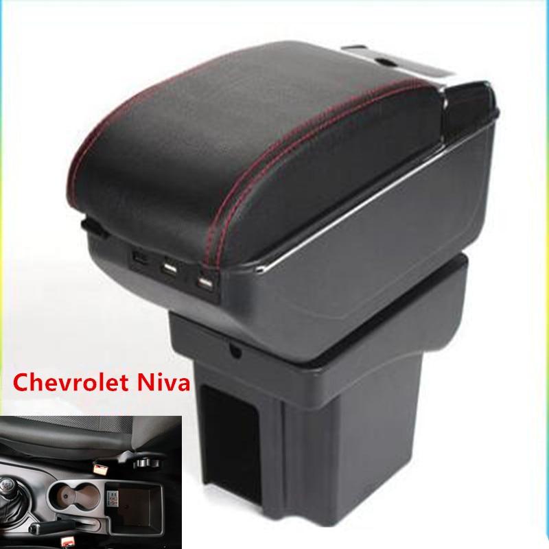Voor Chevrolet Niva Armsteun Doos Armsteun Universele Car Center Console Modificatie Accessoires Dubbele Verhoogd Met Usb