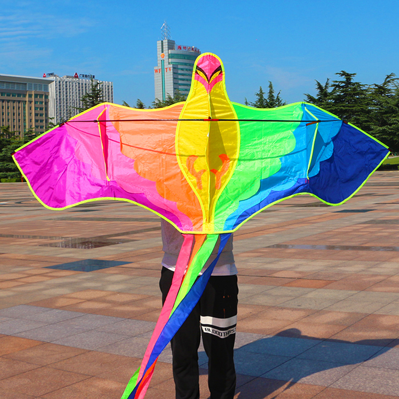 Купить с кэшбэком free shipping large phoenix bird kite nylon ripstop 10pcs/lot with handle line weifang kite factory wholesale new toys outdoor