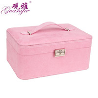 GUANYA New High Grade Fashion Women Jewelry Box Jewelry Carring Case 4 Color For You Choose